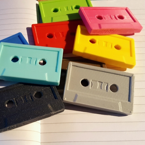 Download free STL file Cassette Tape • Template to 3D print, Code10100