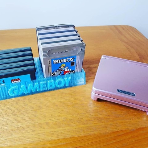 Free 3D model Gameboy game stand, Code10100