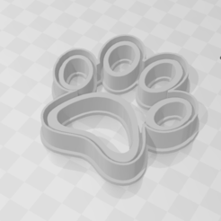 Download 3D printer designs Paw Footprint - Cookie Cutter, LeandroZapata