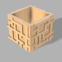 pfleqsur v29.png Télécharger fichier STL Lots (4) pots de fleurs • Design à imprimer en 3D, iTq