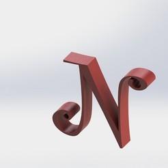 N-1.JPG Télécharger fichier STL Lettre N • Objet imprimable en 3D, ben3dcraft