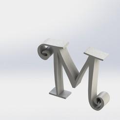 M-1.JPG Télécharger fichier STL Lettre M • Objet pour imprimante 3D, ben3dcraft