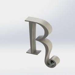 R-1.JPG Télécharger fichier STL Lettre R • Modèle imprimable en 3D, ben3dcraft