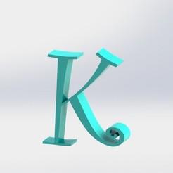 K-1.JPG Télécharger fichier STL Lettre K • Plan à imprimer en 3D, ben3dcraft
