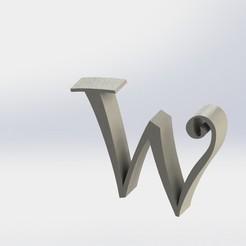 w-1.JPG Télécharger fichier STL Lettre W • Design à imprimer en 3D, ben3dcraft