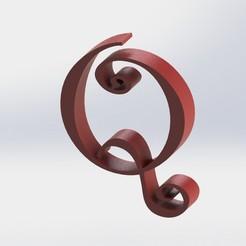 Q-1.JPG Télécharger fichier STL Lettre Q • Modèle pour imprimante 3D, ben3dcraft