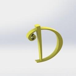 D-1.JPG Télécharger fichier STL Lettre D • Design pour impression 3D, ben3dcraft