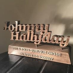 Impresiones 3D Johnny Hallyday 3D, ben3dcraft