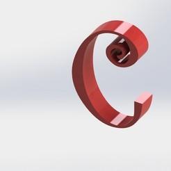 C-1.JPG Télécharger fichier STL Lettre C • Modèle à imprimer en 3D, ben3dcraft
