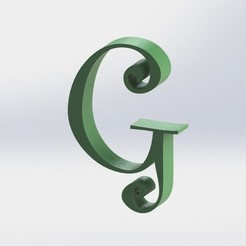 G-1.JPG Télécharger fichier STL Lettre G • Design à imprimer en 3D, ben3dcraft