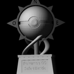 Télécharger fichier impression 3D COUPE DE POKEBALL, DarkRadamanthys