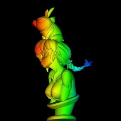 Download free 3D printing designs Ranma1/2 and p chan busto, DarkRadamanthys
