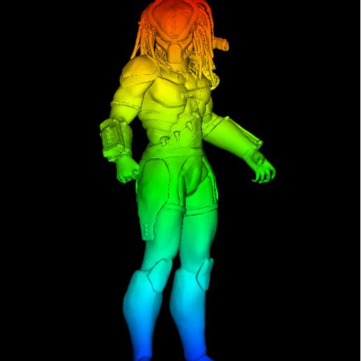Sin título.png Download free STL file Predator • 3D printable template, DarkRadamanthys