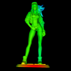 Download free STL file Akali LoL • 3D printing object, DarkRadamanthys