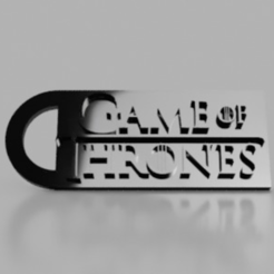Game Of Thrones Keychain.png Télécharger fichier STL Porte-clés de Game Of Thrones • Modèle pour impression 3D, 3DPrintingGurus