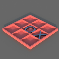Free 3D model Tic Tac Toe, TK3D