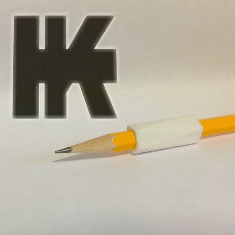 Download free STL Pencil Grip, TK3D