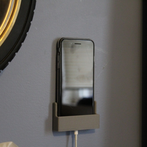 Download free STL files Phone Wall Mount, TK3D