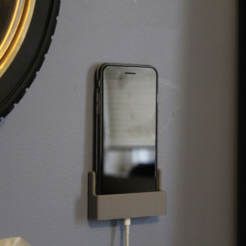 Free STL Phone Wall Mount, TK3D