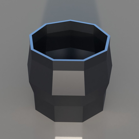 Download free 3D model Geometric Vase, TK3D