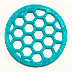 Free STL Hexagon Pattern Coaster, TK3D