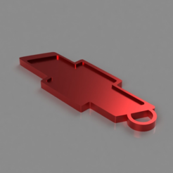 Download free 3D printer templates Chevy Key Chain, TK3D