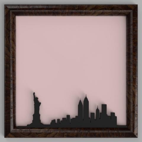 Download free 3D printing designs New York City Skyline, TK3D