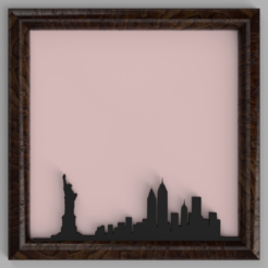 Fichier impression 3D gratuit Skyline de New York, TK3D