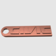 Capture d'écran 2017-05-31 à 17.35.43.png Download free STL file  Honda Civic Key Chain ( Strong ) • 3D printer design, 3DPrintingGurus