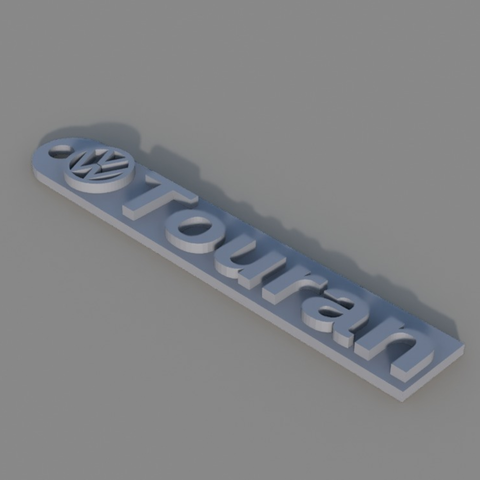 Download free 3D print files  VW Touran Keychain, TK3D