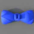 Free 3D printer model Bowtie (clips on to button), TK3D
