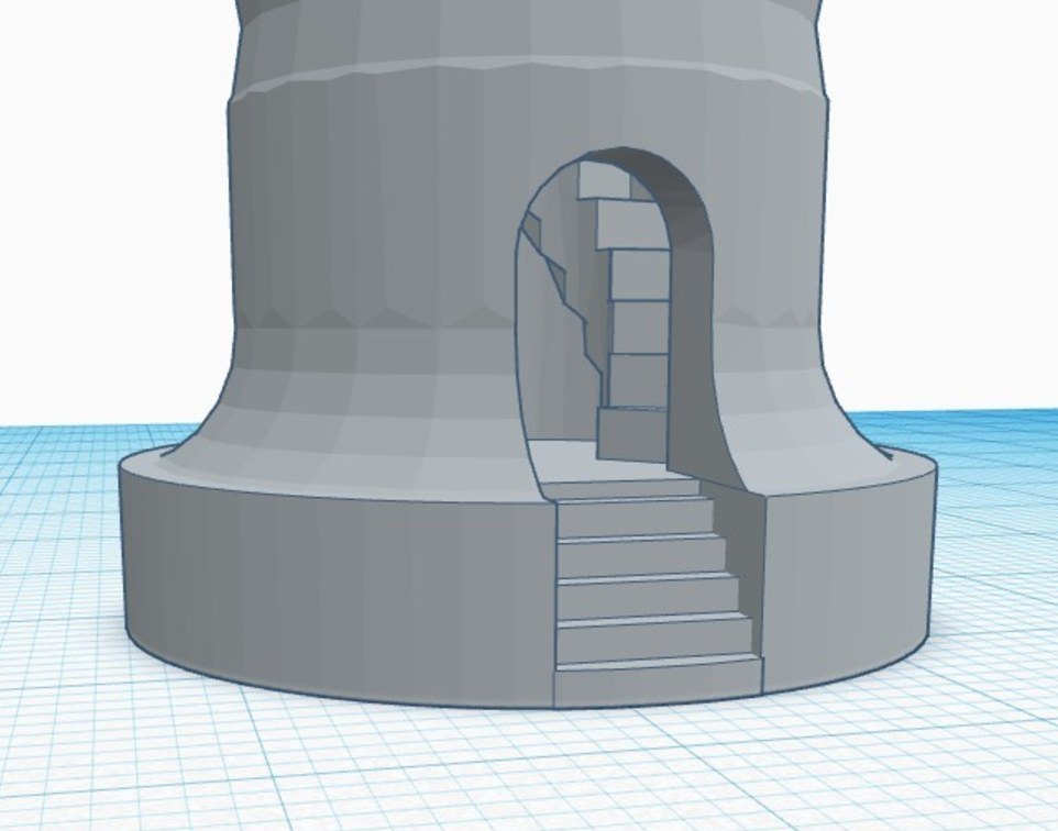 Capture d'écran 2017-05-31 à 17.43.56.png Download free STL file Rook With Staircase • Template to 3D print, 3DPrintingGurus