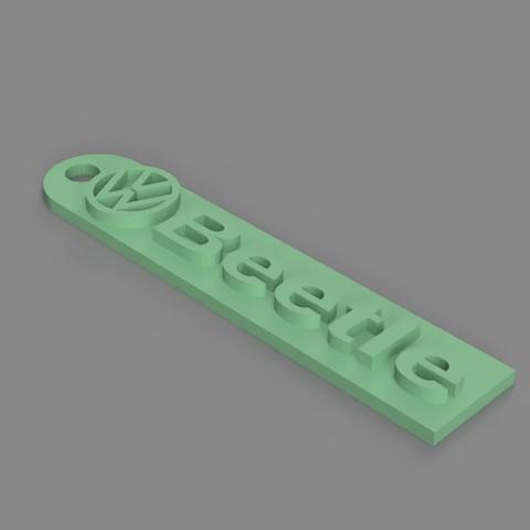 Free 3D print files Volkswagen Beetle Keychain, TK3D