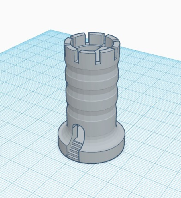 Capture d'écran 2017-05-31 à 17.44.07.png Download free STL file Rook With Staircase • Template to 3D print, 3DPrintingGurus