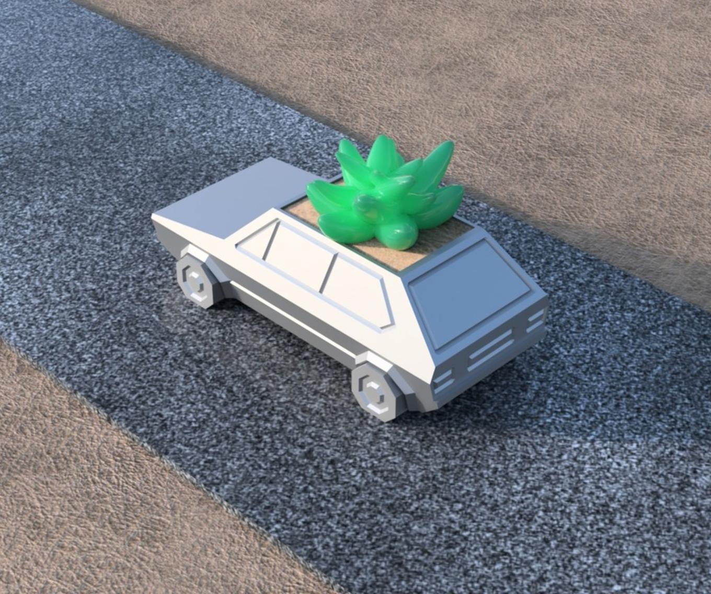 Capture d'écran 2017-05-31 à 19.52.00.png Download STL file Volkswagen Golf GTI - Low Poly Planter • 3D printer design, 3DPrintingGurus