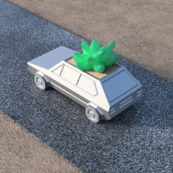 Free Volkswagen Golf GTI - Low Poly Planter 3D model, TK3D