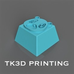 Download free 3D print files Kanye West Graduation Bear Key Cap, TK3D