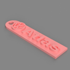 Free 3D printer file Volkswagen Atlas Keychain, TK3D