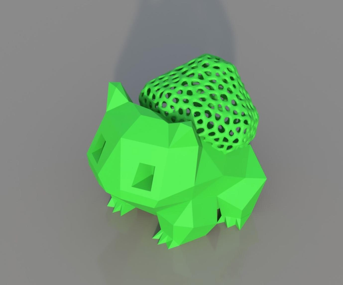 Capture d'écran 2017-12-26 à 11.36.21.png Download STL file Low Poly Voronoi Hybrid Bulbasaur • 3D printer model, 3DPrintingGurus