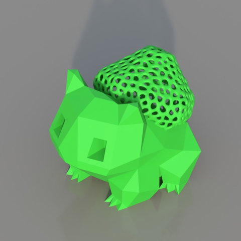 Free STL file Low Poly Voronoi Hybrid Bulbasaur, TK3D