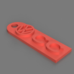 Capture d'écran 2017-06-06 à 16.05.59.png Download STL file  Volkswagen CC Keychain • Object to 3D print, 3DPrintingGurus