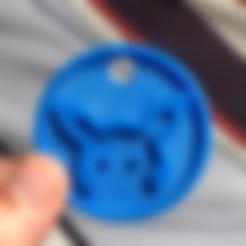 Download free 3D printing designs Pikachu Keychain, TK3D