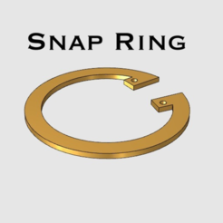 Free Snap Ring 3D model, TK3D