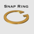 Download free 3D printing models Snap Ring, TK3D