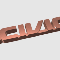 Download free 3D printing files Honda Civic Keychain, TK3D