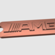Download free 3D printer templates AMG keychain, TK3D