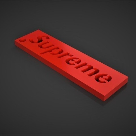 Download free 3D printing designs Supreme Keychain, TK3D
