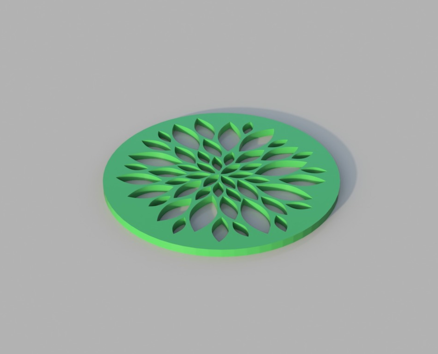 Capture d'écran 2017-12-20 à 11.07.08.png Download free STL file Floral Coaster • 3D printer model, 3DPrintingGurus