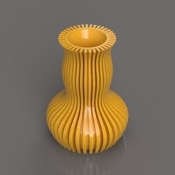 3D printer models Ribbed Vase, TK3D