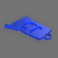 Free STL files Connecticut Key Chain, TK3D
